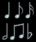 Diamond note symbols Royalty Free Stock Photos