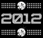 Diamond numbers 2012. Vector diamond numbers 2012, means Happy New Year Royalty Free Stock Photos
