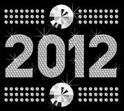 Diamond numbers 2012. Vector diamond numbers 2012, means Happy New Year royalty free illustration