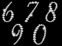 Diamond numbers Stock Images