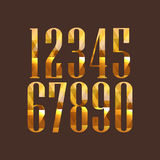 Diamond numbers set Royalty Free Stock Image