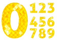 Diamond numbers Royalty Free Stock Images