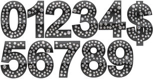 Diamond numerals and dollar symbol Stock Photos