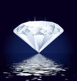 Diamond on the ocean. Royalty Free Stock Photography