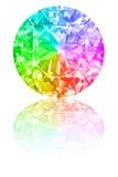 Diamond Of Rainbow Colours On White Stock Photo