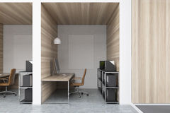 Diamond office cubicles with pictures close up Stock Image