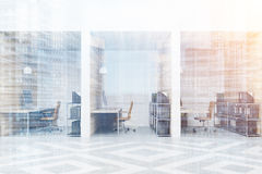 Diamond office cubicles with pictures, double Royalty Free Stock Image