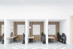 Diamond office cubicles with pictures Stock Image