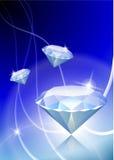 Diamond On Abstract Light Background Stock Photos