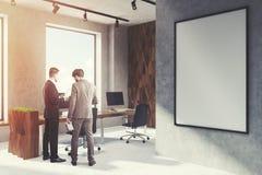 Diamond open office, poster, corner, men Stock Image