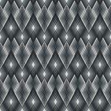 Diamond Outline Pattern aux nuances du gris Image stock