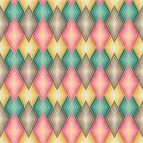 Diamond Outline Pattern dans des couleurs amorties Photographie stock libre de droits