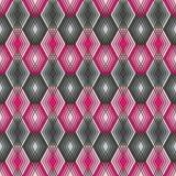Diamond Outline Pattern dans le rose et le gris Photographie stock