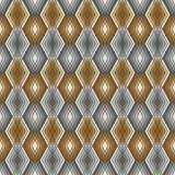 Diamond Outline Pattern en or et argent Images libres de droits