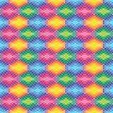 Diamond Outline Pattern i ljusa färger Royaltyfri Foto