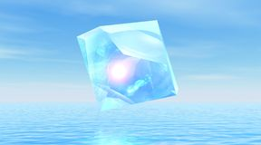 Diamond over quiet ocean Stock Image
