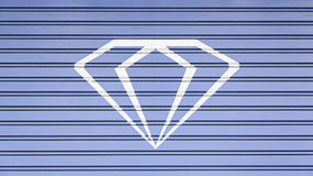 Diamond painted on a wall Royalty Free Stock Image