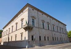 Diamond Palace of Ferrara. Royalty Free Stock Images