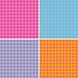 Diamond pattern background collection in multiple mixed colors Royalty Free Stock Image