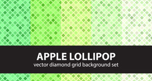 Diamond pattern set Apple Lollipop Stock Photography