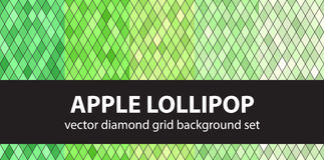 Diamond pattern set Apple Lollipop Stock Photo