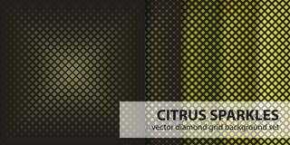 Diamond pattern set Stock Photos
