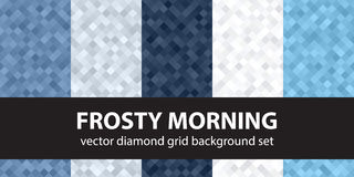 Diamond pattern set Frosty Morning Stock Images
