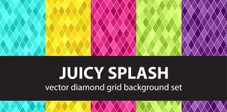 Diamond pattern set Juicy Splash Stock Images