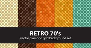 Diamond pattern set Retro 70`s Royalty Free Stock Image