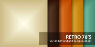 Diamond pattern set Retro 70`s Royalty Free Stock Image