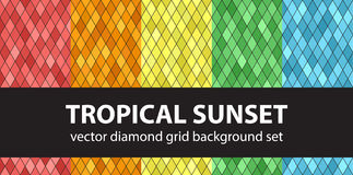 Diamond pattern set Tropical Sunset Royalty Free Stock Images