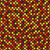 Diamond pattern. Vector seamless background. Maroon, red, orange, gold, yellow rounded diamonds on black backdrop Royalty Free Stock Photos