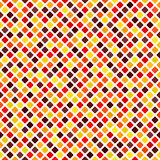 Diamond pattern. Vector seamless background. Maroon, red, orange, gold, yellow rounded diamonds on white backdrop Royalty Free Stock Photo