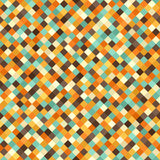 Diamond pattern. Vector seamless retro background. With beige, brown, orange, yellow, green square diamonds Stock Images