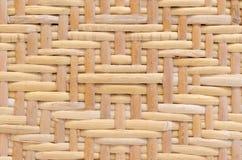 Diamond pattern woven rattan Stock Photography