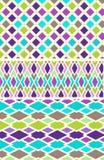 3 Diamond Patterns Seamless Royalty Free Stock Images