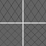 Diamond patterns set. Seamless textures. Vector art Stock Image