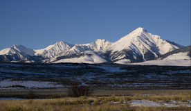 Diamond Peak nell'inverno Fotografia Stock