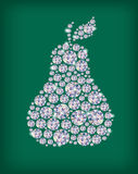 Diamond pear. Illustration contains transparent object. EPS 10 Stock Photos