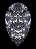 Diamond pear cut Stock Photos