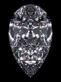Diamond pear cut. Diamond series; isolated 3d jewellery series Stock Photos