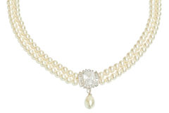 Diamond and pearl necklace Royalty Free Stock Photos