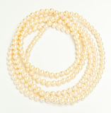 Diamond and pearl necklace Stock Images