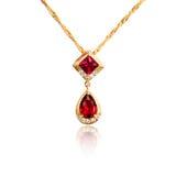 Diamond pendant isolated on white Stock Photos