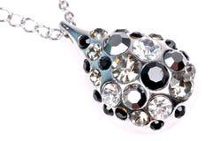 Diamond Pendant Jewellery Closeup Stock Photo
