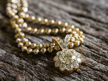 Diamond Pendant, Selectieve nadruk Royalty-vrije Stock Foto