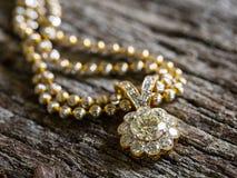 Diamond Pendant selektiv fokus Royaltyfri Foto