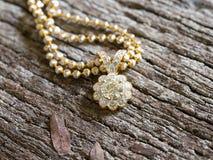 Diamond Pendant selektiv fokus Royaltyfri Bild