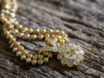 Diamond Pendant selektiv fokus Fotografering för Bildbyråer
