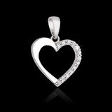 Diamond pendant in shape of heart Royalty Free Stock Photography